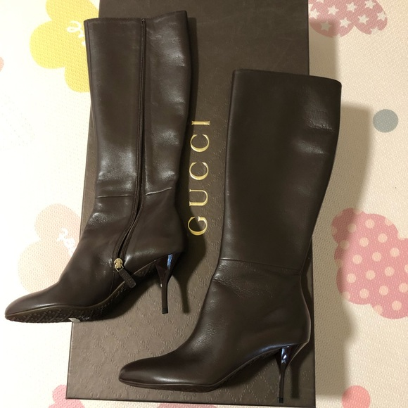 d944c307c26 Gucci brown leather boots. NWT